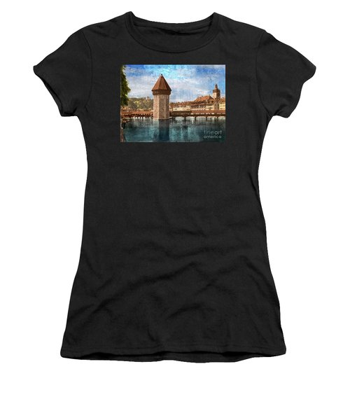 Chapel Bridge In Lucerne Women's T-Shirt