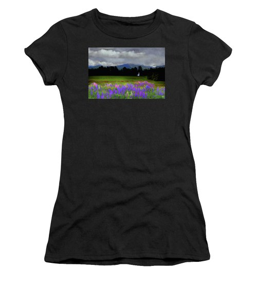 Chapel In The Lupine Mindscape Women's T-Shirt (Athletic Fit)