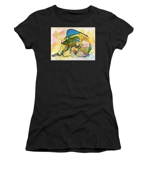 Charcoal Model #4 Women's T-Shirt (Athletic Fit)