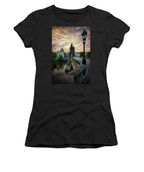 Charles Bridge, Prague, Czech Republic Women's T-Shirt (Athletic Fit)