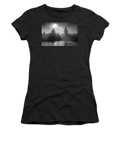 Charles Bridge Towers, Prague, Czech Republic Women's T-Shirt (Athletic Fit)