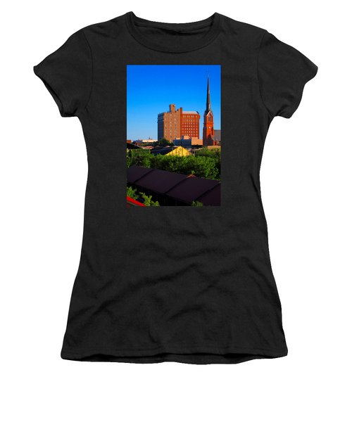 Charleston Buildings Women's T-Shirt (Athletic Fit)