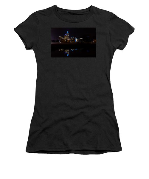 Charlotte Reflection At Night Women's T-Shirt (Athletic Fit)