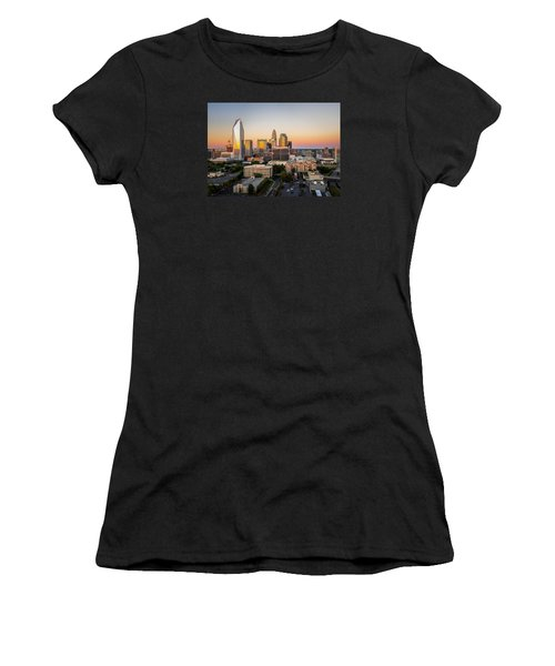 Charlotte Skyline At Sunset Women's T-Shirt (Athletic Fit)