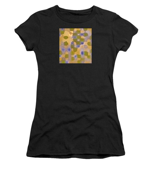 Chartreuse Two  By Rjfxx. Original Abstract Art Painting. Women's T-Shirt (Athletic Fit)