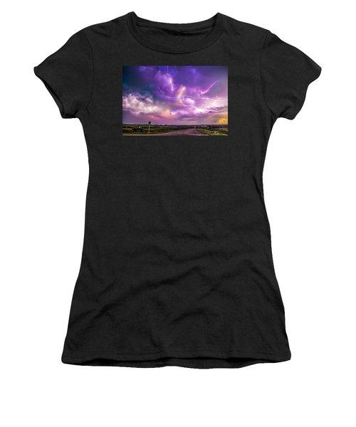 Chasing Nebraska Lightning 056 Women's T-Shirt
