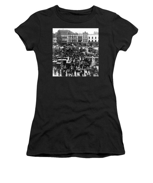 Cheapside Public Square In Lexington - Kentucky - April 7  1920 Women's T-Shirt (Athletic Fit)
