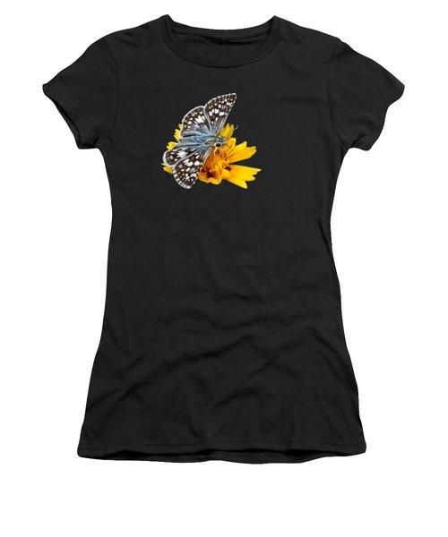 Checkered Skipper - Square - Transparent Women's T-Shirt