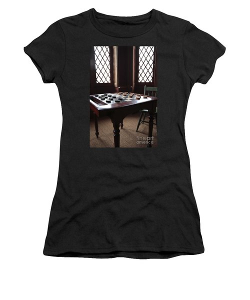Checkers Table At The Lincoln Cottage In Washington Dc Women's T-Shirt