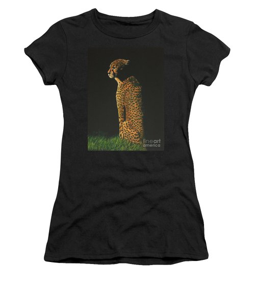 Cheetah At Sunset Women's T-Shirt (Athletic Fit)