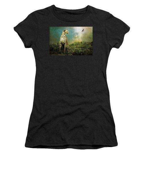 Cheetah Women's T-Shirt (Junior Cut) by Diana Boyd