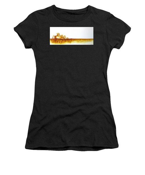 Cheetah Mum And Cubs - Original Artwork Women's T-Shirt
