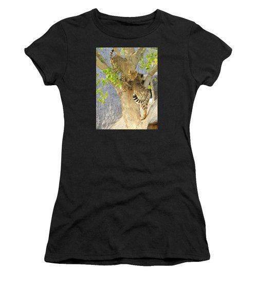 Cheetah Traffic Jam Women's T-Shirt (Athletic Fit)