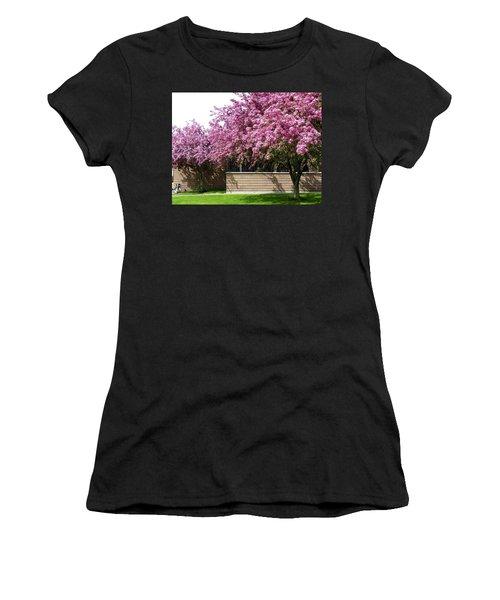 Cherry Blossoms 1 Women's T-Shirt (Junior Cut) by Will Borden