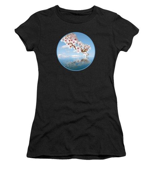 Cherry Cascade Reflection Women's T-Shirt