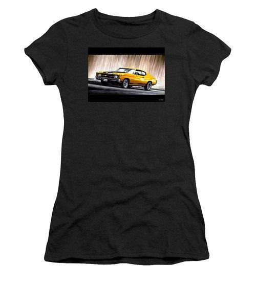 Chevrolet Car In Yellow Women's T-Shirt