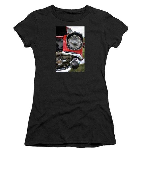 Women's T-Shirt (Junior Cut) featuring the photograph Chevy Bel Air by Glenn Gordon
