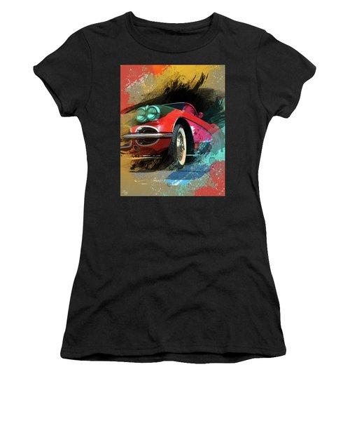 Chevy Corvette Digital Art Women's T-Shirt (Athletic Fit)