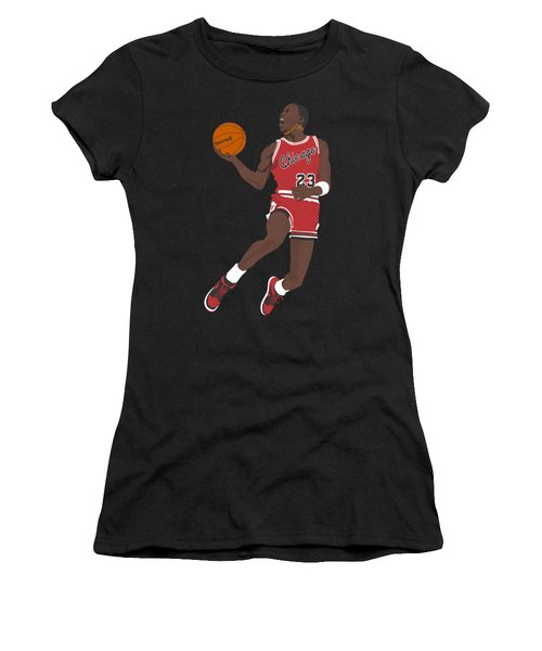 Chicago Bulls - Michael Jordan - 1985 Women's T-Shirt (Athletic Fit)
