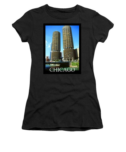 Chicago Poster - Marina City Women's T-Shirt