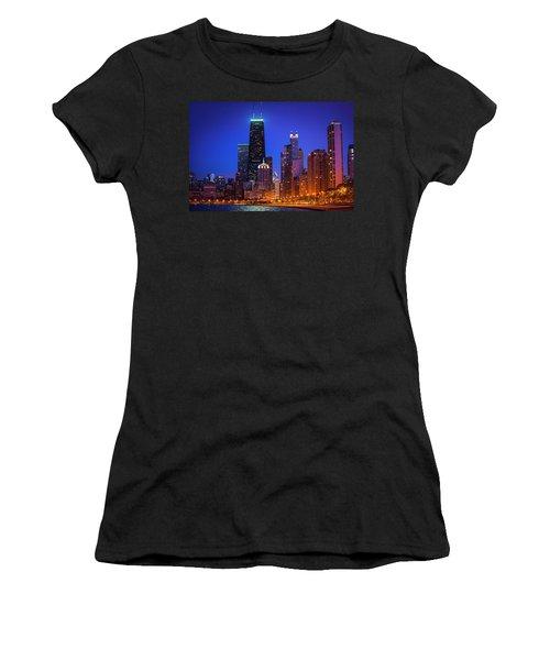 Chicago Shoreline Skyscrapers Women's T-Shirt (Athletic Fit)