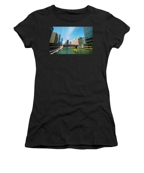 Chicago, That Toddlin' Town Women's T-Shirt (Junior Cut) by Deborah Smolinske