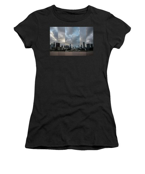 Chicago's Buckingham Fountain Time Slice Photo Women's T-Shirt
