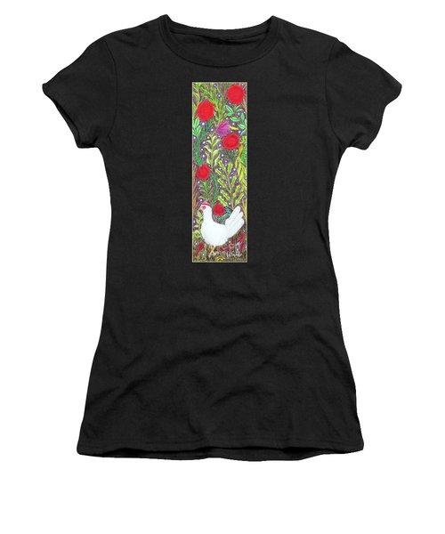 Chicken With An Attitude In Vegetation Women's T-Shirt