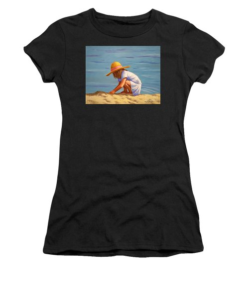 Child Playing In The Sand Women's T-Shirt