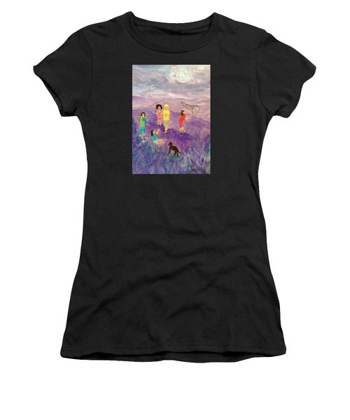 Children Catching Fireflies Women's T-Shirt