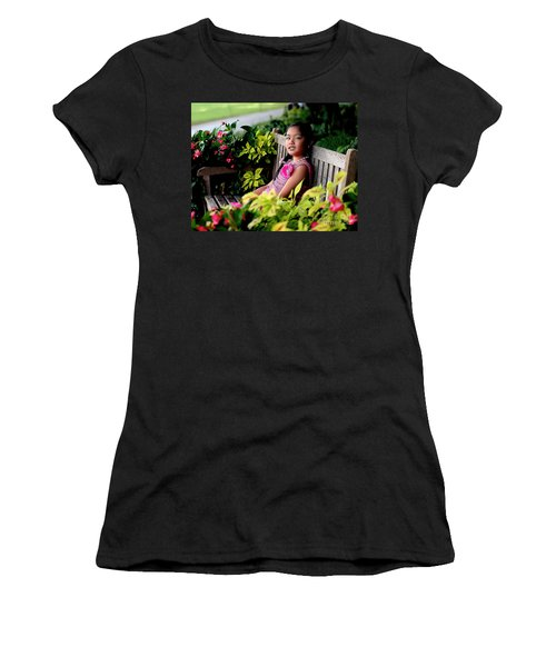Women's T-Shirt (Junior Cut) featuring the photograph Children by Diana Mary Sharpton