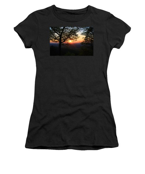 Women's T-Shirt (Junior Cut) featuring the photograph Chilhowee Sunset by Kathryn Meyer