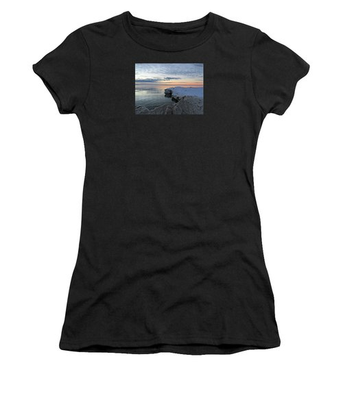 Women's T-Shirt (Athletic Fit) featuring the photograph Chilly View by Greta Larson Photography