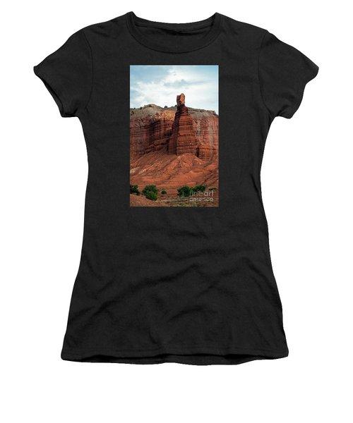 Chimney Rock In Capital Reef Women's T-Shirt