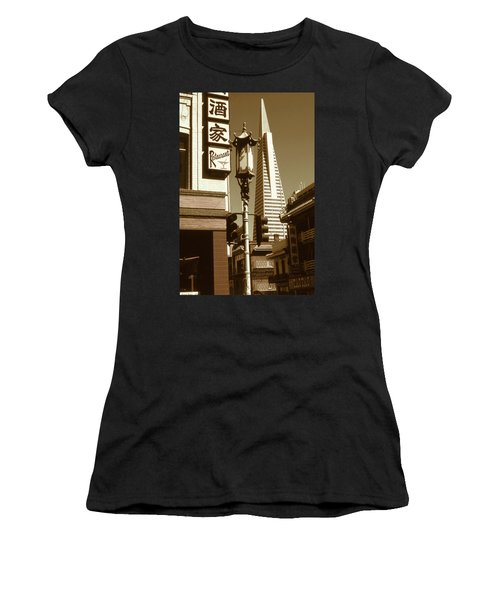 Chinatown San Francisco - Vintage Photo Art Women's T-Shirt