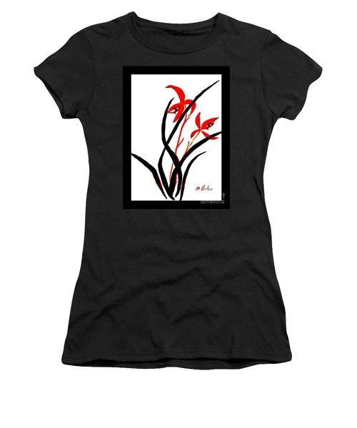 Chinese Flowers Women's T-Shirt (Junior Cut) by Marsha Heiken
