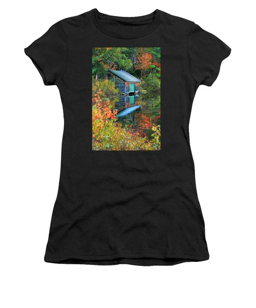 Chocorua Boathouse Women's T-Shirt (Athletic Fit)