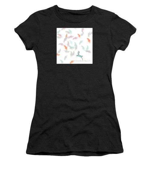 Women's T-Shirt (Junior Cut) featuring the digital art Christ Rules My Life by Trilby Cole