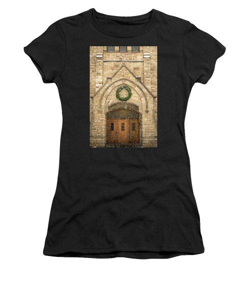 Christmas At Stone Chapel Women's T-Shirt