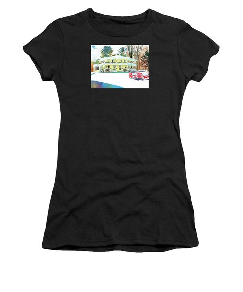 Christmas At The Hexagon House Women's T-Shirt (Athletic Fit)