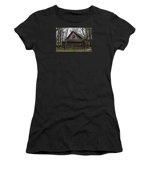 Christmas Barn Women's T-Shirt (Athletic Fit)