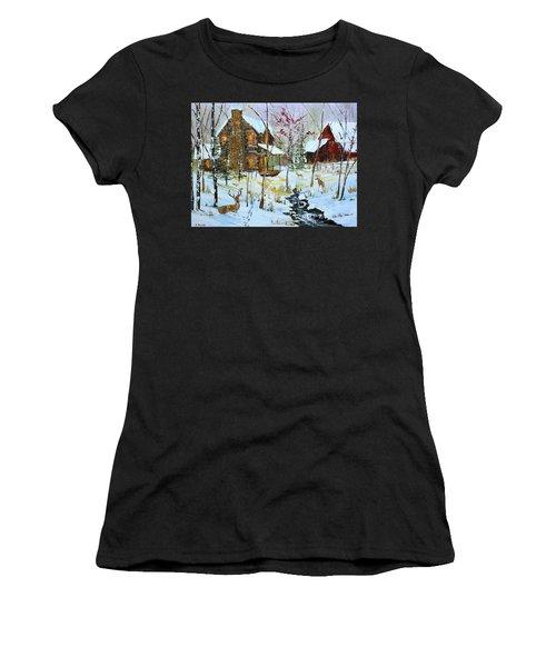 Christmas Cabin Women's T-Shirt