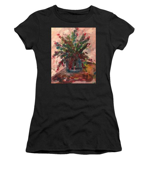 Christmas Cactus Women's T-Shirt (Athletic Fit)