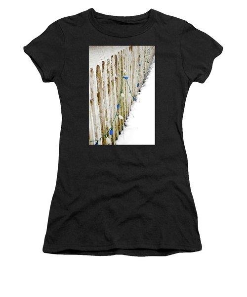 Christmas Fence Women's T-Shirt