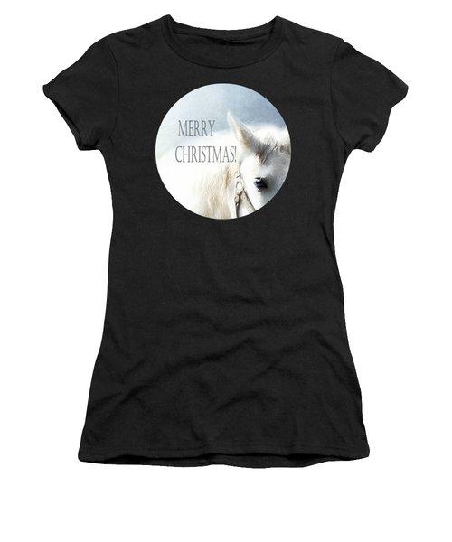 Christmas Horse - Card Women's T-Shirt