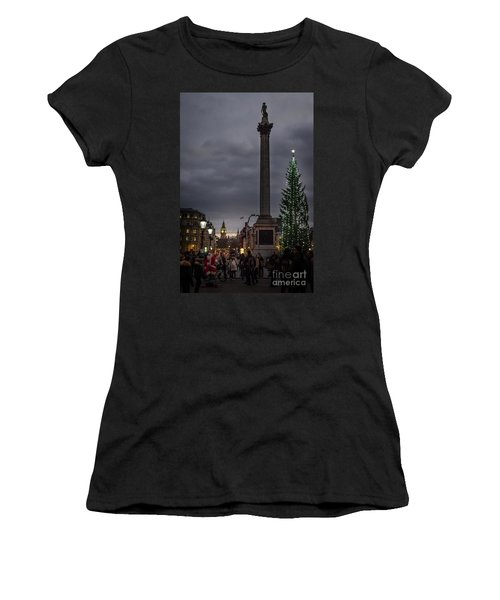 Christmas In Trafalgar Square, London Women's T-Shirt (Athletic Fit)