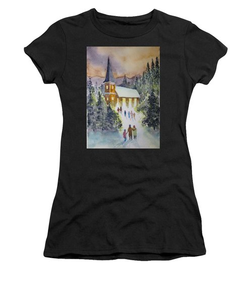 Christmas Service Women's T-Shirt (Athletic Fit)