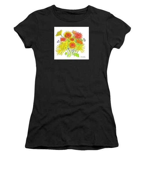 Chrysanthemums Women's T-Shirt (Athletic Fit)