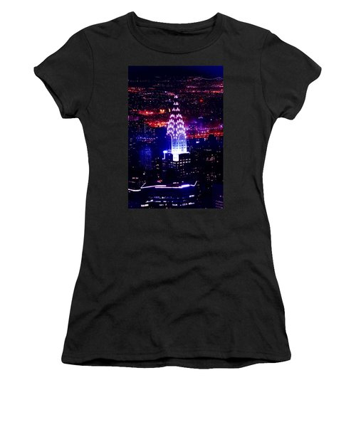 Chrysler Building At Night Women's T-Shirt (Athletic Fit)