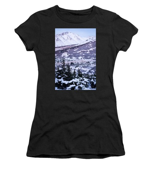 Chugach In Alpenglow Women's T-Shirt (Athletic Fit)